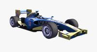 3d formula 1 car polys