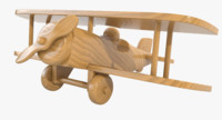 3d model of varnished wooden airplane toy