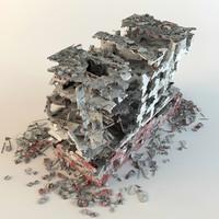 ruins buildings 3d model