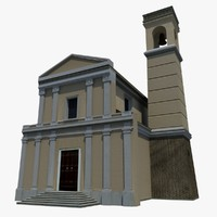 3ds max italian church