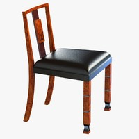 3d max chair rare walnut neoclassical