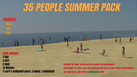 3d model of summer people pack 35