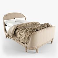 3d belle upholstered bed