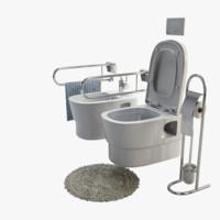 3d model toilet bohemia