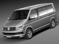 3d volkswagen transporter multivan model