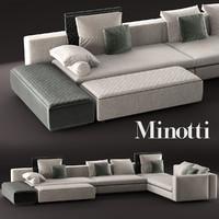 yang modular sofa 3d max