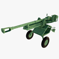 3d anti tank cannon ww model