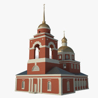 3d model of church c