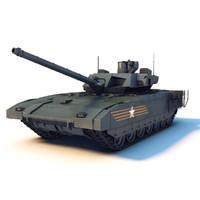 russian tank t-14 armata 3d model