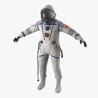 russian space suit sokol 3d model