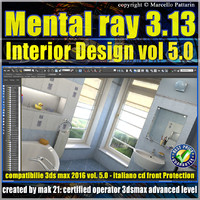 Mental ray 3.13 in 3dsmax 2016 Vol.5 Interior Design Cd front