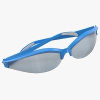sport folded glasses 3d max