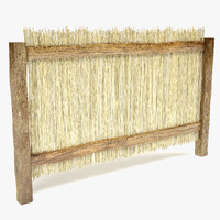 3d model straw fence