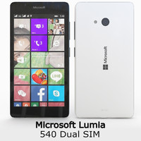 3d microsoft lumia 540 dual model
