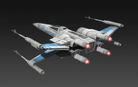 3d model resistance x-wing fighter star