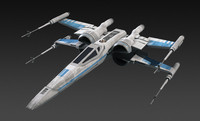 resistance x-wing fighter star 3d obj
