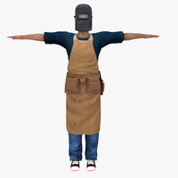 3d model people human welder male