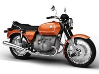 bmw r90 1972 standard 3d c4d