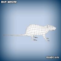 maya base mesh rat
