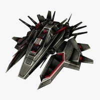 fighter destroyer 3d model