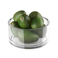 Bowl of avocado fruits