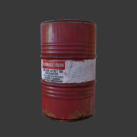 flammable barrel 3d obj