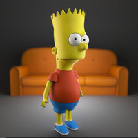 3d model of bart simpson