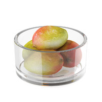3d model of mango fruits glass bowl