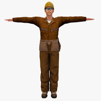 3d model people human worker male