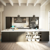 kitchen interior 3d obj