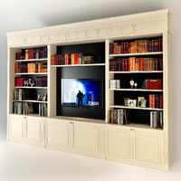 built-in bookcase 3d max