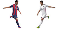 3d model rigged messi cristiano ronaldo