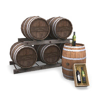 winery pack wine glass 3d lwo