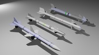 premium missile pack 3d model