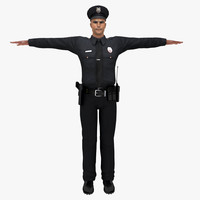 3d model human policeman male police