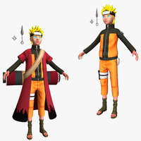 rigged naruto shippuden converted 3d model