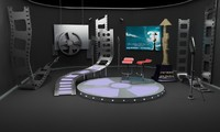 3d model of tv studio booth