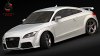 audi tt rs coupe 3d model