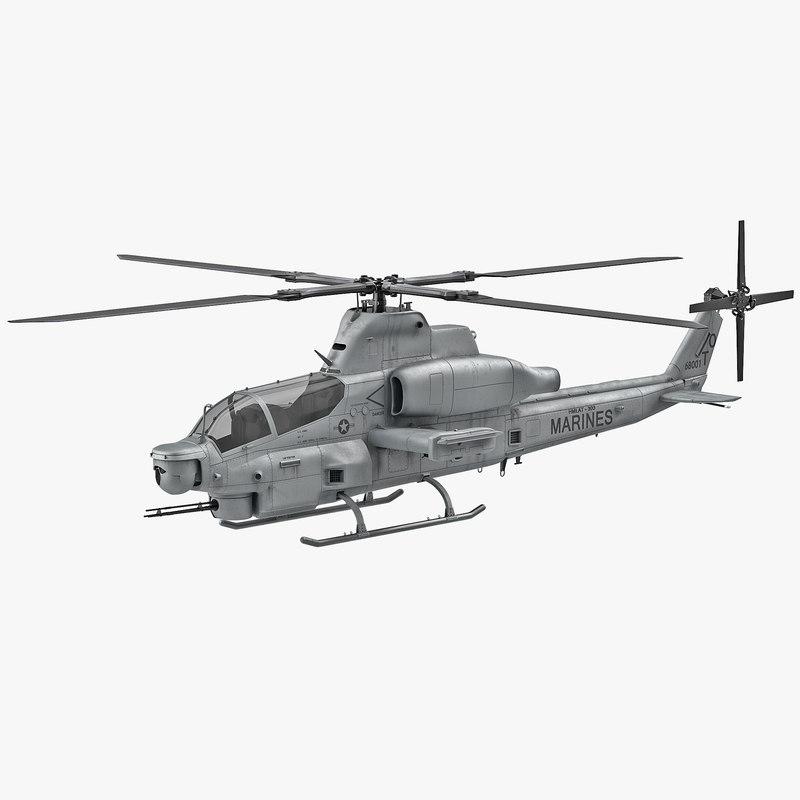 Attack Helicopter Bell AH 1Z Viper 3d model 01.jpg