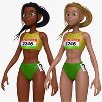 sculpt cartoon track field 3d obj