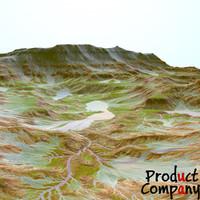 obj hills cliffs terrain