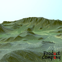 hills cliffs terrain obj