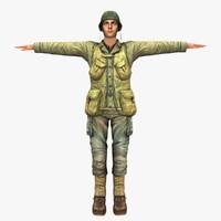 3d human ww2 soldier model