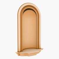 interior walls niche 3d model