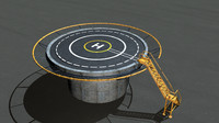 3d model helipad