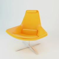 3ds max realistic metropolitan chair