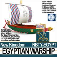 3d model ancient egypt warship kepnet