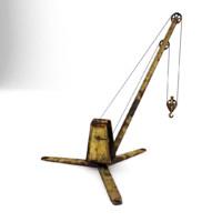 3d model crane rendered