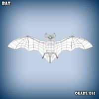 3d model base mesh bat