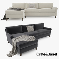 Crate and Barrel Montclair 2 Piece Sectional Sofa